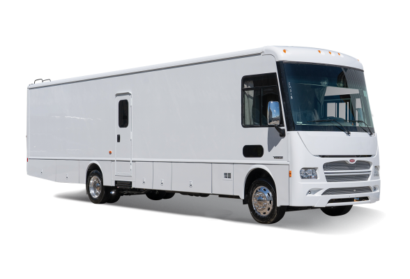 white commercial vehicle exterior